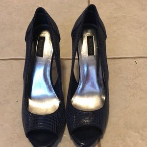 Navy blue White House /black market navy heels